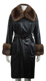 YSL haute couture fur coat