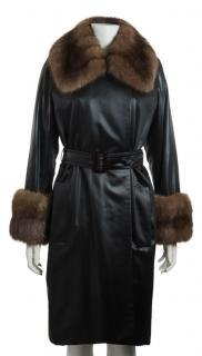 YSL haute couture fur coat