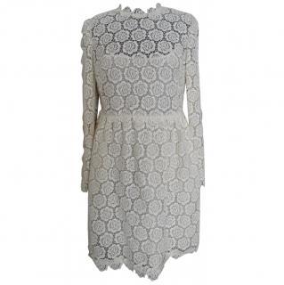 Valentino ivory lace dress