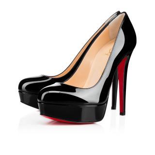 Christian Louboutin Bianca 140 Black Patent Heels