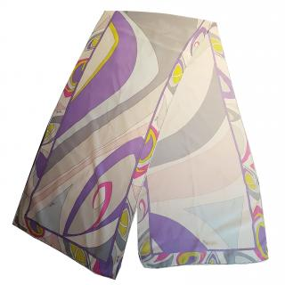 Pucci Multicoloured Silk Scarf