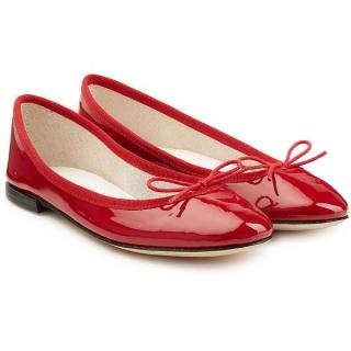 Repetto Red Patent Leather 'Cendrillon' Ballet Flats