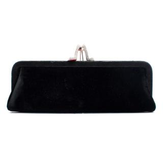 Christian Louboutin Black Velvet Clutch