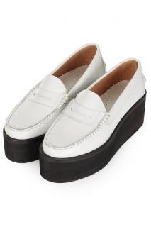 J W Anderson White Platform Shoes
