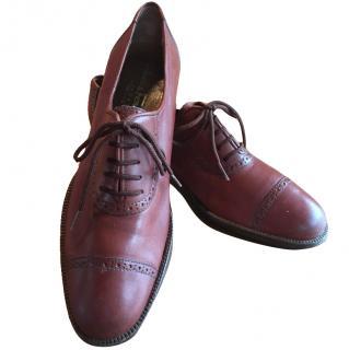 Salvatore Ferragamo tan leather shoes