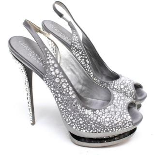 Gianmarco Lorenzi Swarovski Crystal Encrusted Pumps