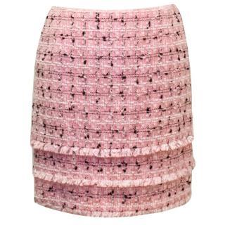 Escada Pink Tweed Mini Skirt