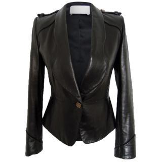 Jason Wu black leather jacket blazer