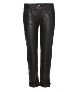 Paige Leather Boyfriend Trousers