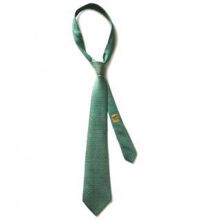 Hermes Pale Green Link Silk Tie RRP �130.