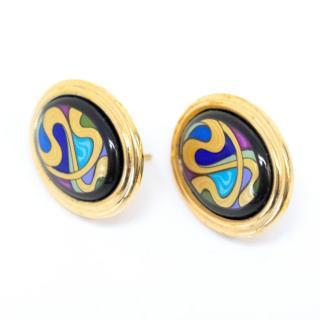 Frey Wille Hommage A Alphonse Mucha Aquamarine Earrings