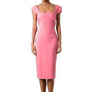 Antonio Berardi Fitted Knee Length Dress (Hot Pink)