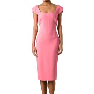 Antonio Berardi Fitted Knee Length Dress (Hot Pink)