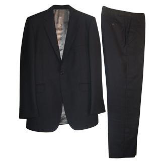 Aquascutum Navy Blue Pure Wool Suit 42