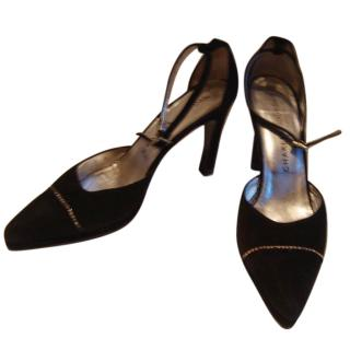 Charles Jourdan black suede evening shoe