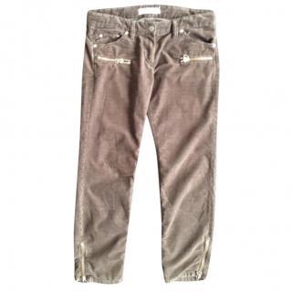 Etoile Isabel Marant cropped cordoruy jeans