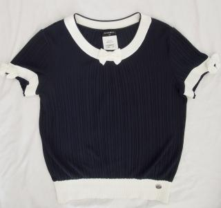 Chanel navy blue top
