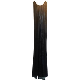 Ossie Clark Black Silk Gown