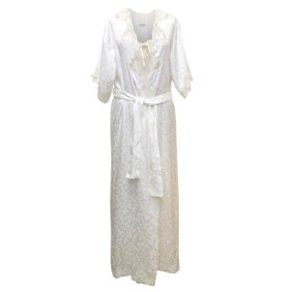 Christian Dior Cream Night Gown and Robe Set