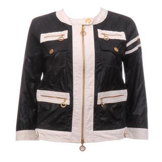 Moncler 'Althea' Monochrome Quilted Coat Jacket