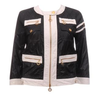 Moncler 'Althea' Monochrome Quilted Coat Jacket