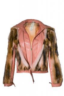 Gianni Versace Skunk Fur and Lizard Jacket