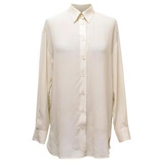 Emporio Armani Cream Silk Blouse