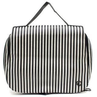 Oscar de la Renta Striped Vanity Bag