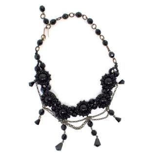 Erickson Beamon Black Beaded Choker