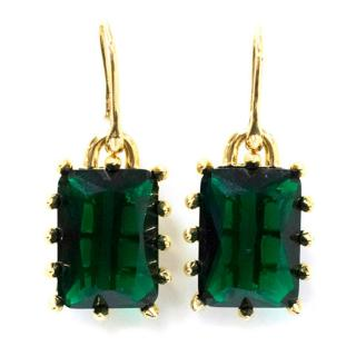 Eddie Borgo Emerald Square Drop Earrings
