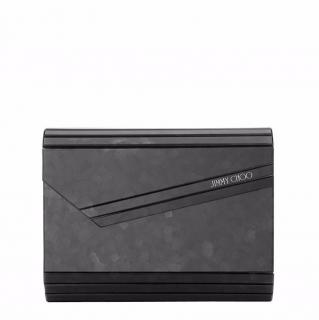 Jimmy Choo black glitter candy clutch