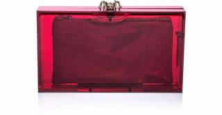 Charlotte Olympia Red Pandora Perspex Clutch