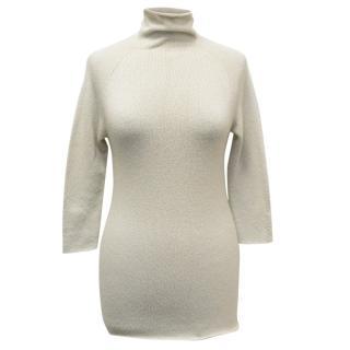 Donna Karan Beige Cashmere Sweater