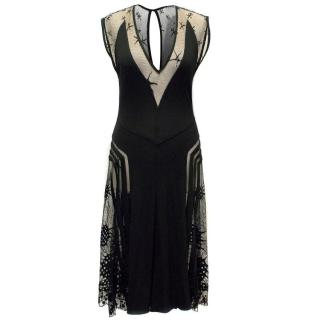 Jean Paul Gaultier Black Dress with Mesh Inserts