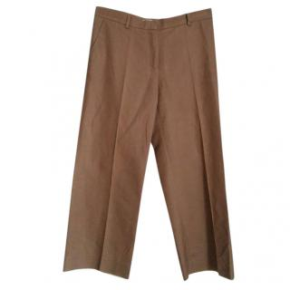 Max Mara Brown Wide Leg Trousers