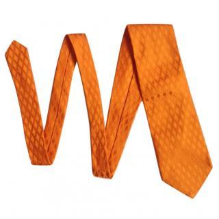 Barneys New York Vintage Orange Silk Tie