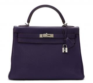Hermes Iris Clemence Leather Kelly 32cm