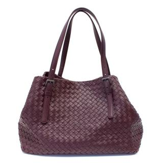 Bottega Veneta Plum Intrecciato Medium Tote