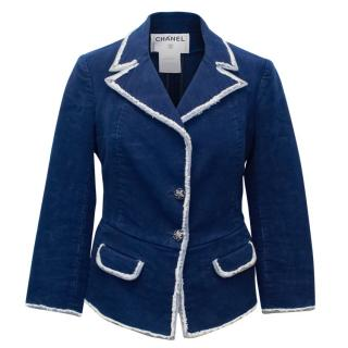 Chanel Blue Cotton Jacket