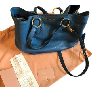 Miu Miu Blue Leather Bag