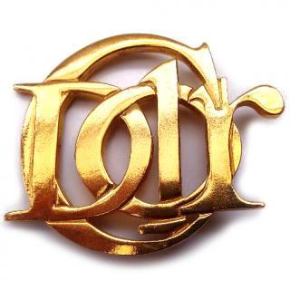 Christian Dior Vintage Gold tone Brooch .