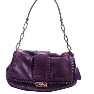Christian Dior Purple Calfskin Handbag