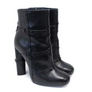 Tom Ford Black Patchwork Leather Boots