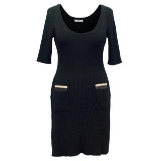 Prada Black Short Sleeved Jumper Dress