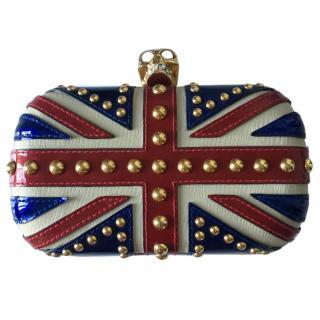 Alexander McQueen Union Jack Studded Clutch Bag