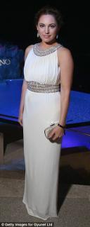 Azzaro White Beaded Gown
