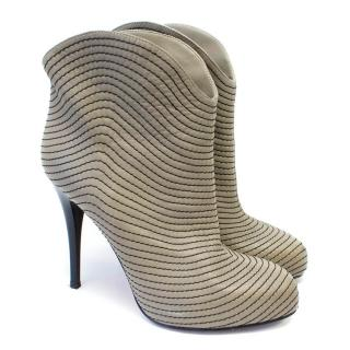 Giuseppe Zanotti Stitched Western Ankle Boots