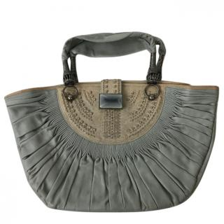 Dior Grey Sharon Stone Leather Tote