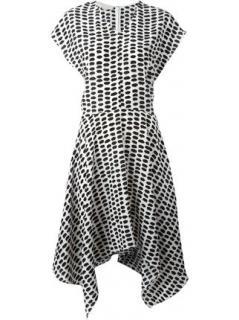 Stella McCartney printed silk aymmetric dress