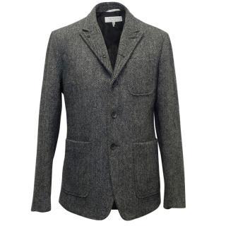 Rag & Bone Men's Grey Herringbone Tweed Blazer